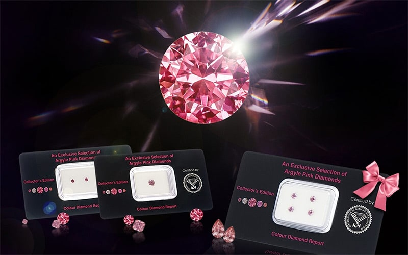Curated Argyle pink diamonds offered as 'The Collector's Edition'