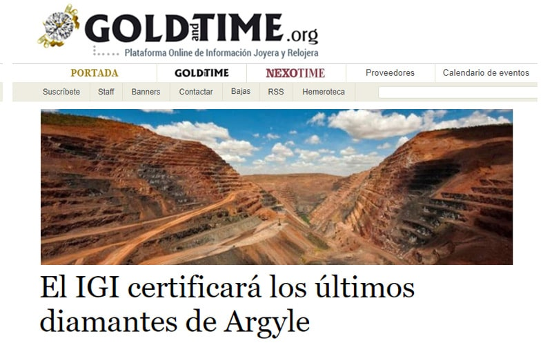 IGI Argyle Pink Program reported by Gold and Time