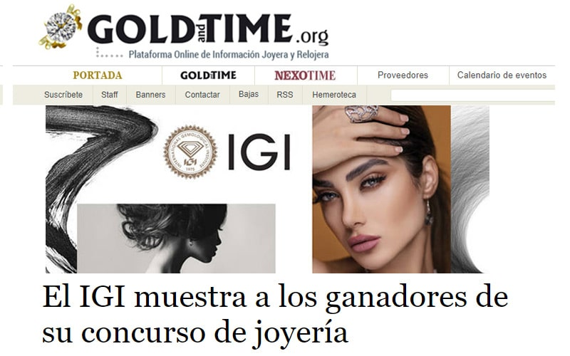 Gold and Time features IGI Design Contest Winners