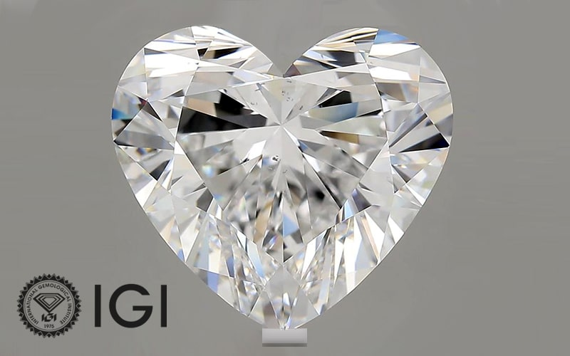 Read more about the article IGI Certifies 10 carat Heart Shaped Lab Grown Diamond