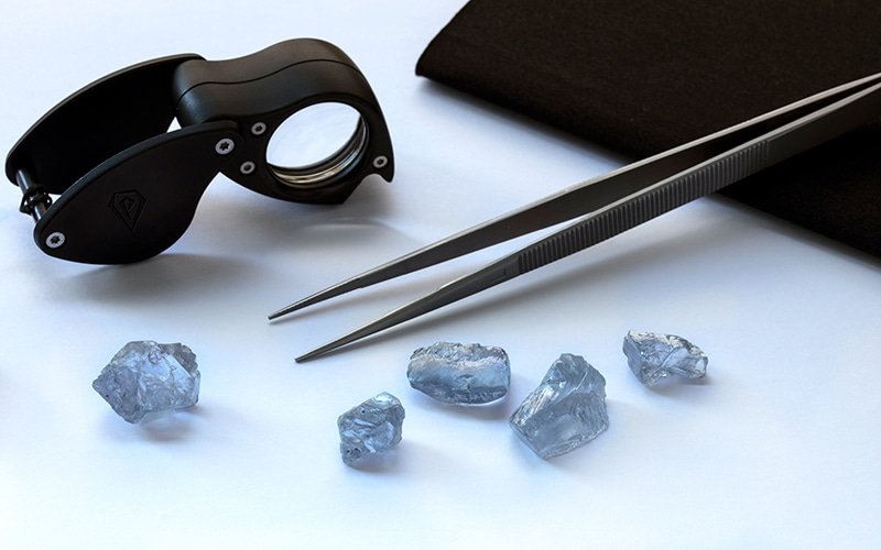Petra finds 5 rare blue diamonds totaling 85+ carats!