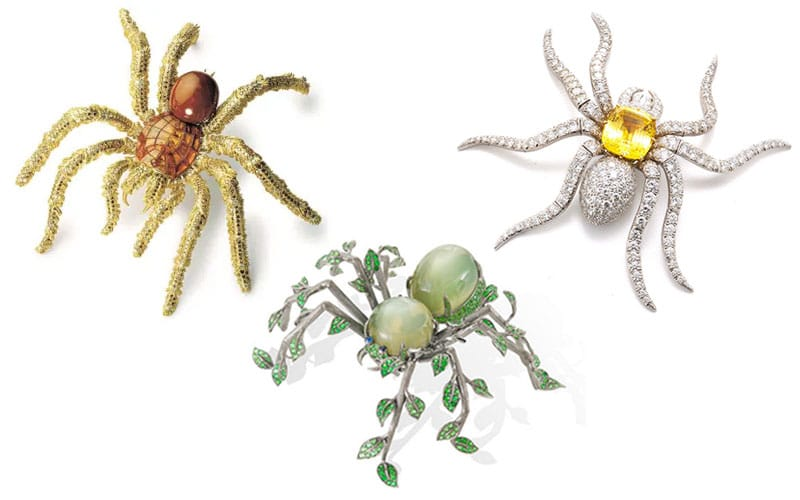 Spooky Spider Brooches for Halloween